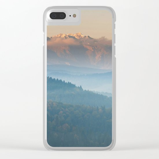 The mountains are calling #sunset Clear iPhone Case