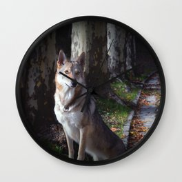 Wolfdog Wall Clock