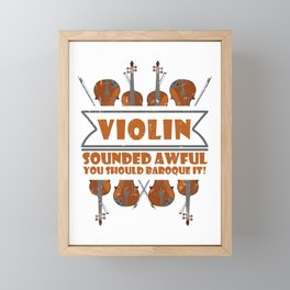 Baroque It Violin Player Folk Music Classical Jazz Framed Mini Art Print
