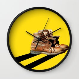 At the end of the road Wall Clock