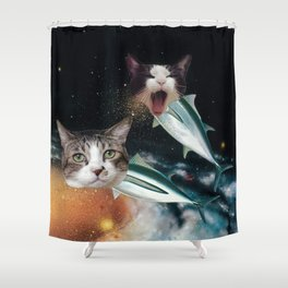 Meowfish Shower Curtain