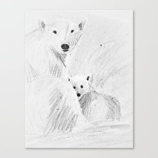 arctic bears Canvas Print