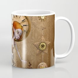 Cute little steampunk girl with clocks and gears Coffee Mug
