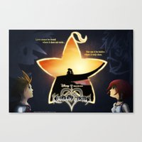 kingdom hearts Canvas Prints featuring Kingdom Hearts - Fated Together by Fancy Pants Artistry
