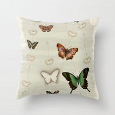 Butterfly Coordinates iii Throw Pillow