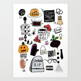 The Office doodles Art Print