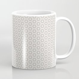 Hexagon Light Gray Pattern Coffee Mug