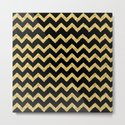 Chevron Black And Gold by lavieclaire