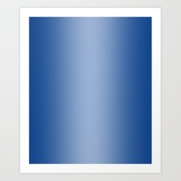 Blue to Pastel Blue Vertical Bilinear Gradient Art Print