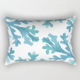 Blue Ombre Coral Rectangular Pillow