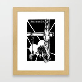 Insanity n Art's Society Desides the Crucified. Framed Art Print