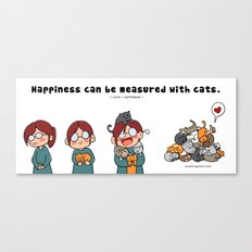 Happiness is cats Canvas Print