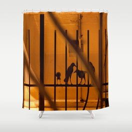 Family crow Shower Curtain