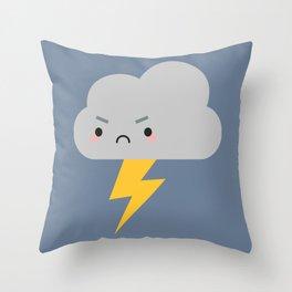 Kawaii Thunder & Lightning Cloud Throw Pillow