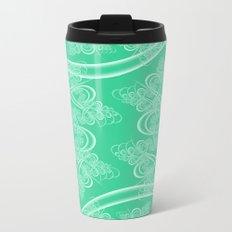 Pistachio Fractal Metal Travel Mug