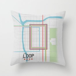 Chicago's Loop Throw Pillow