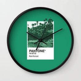 PANTONE SERIES – RAINFOREST Wall Clock