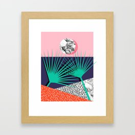 Head Rush - palm springs throwback desert sunrise neon 80s style vintage fresh home decor hipster co Framed Art Print