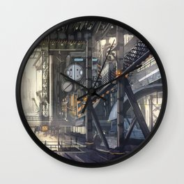 Industrial District Wall Clock