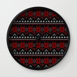 Scandinavian knitting Christmas ugly sweater ornamental decor Wall Clock