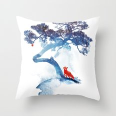The last apple tree Throw Pillow