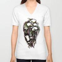 life aquatic V-neck T-shirts featuring Aquatic by Emma Lettera