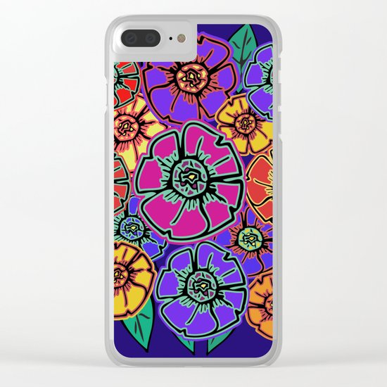 Abstract #462 - Flower Power #13 Clear iPhone Case