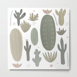 Cactus meadow Metal Print