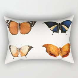Butterfly Collage I Rectangular Pillow