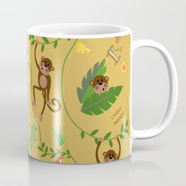 jumping cheeky monkeys yellow 03 Coffee Mug