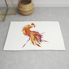 Red Rooster Rug
