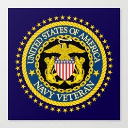 US Navy Veteran Canvas Print
