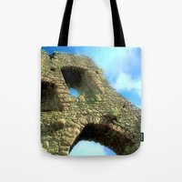 castle in the sky Tote Bags featuring Castle by Brian Raggatt