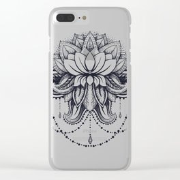 ornamental Lotus Clear iPhone Case