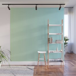 Turquoise Green Blue Gradient Wall Mural