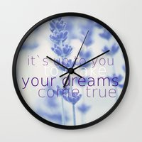 lavender Wall Clocks featuring Lavender  by SUNLIGHT STUDIOS  Monika Strigel