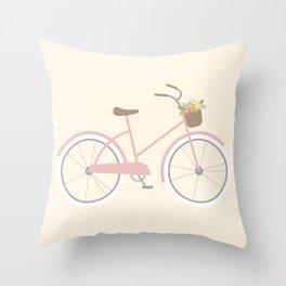 Bike Bicycle Throw Pillow