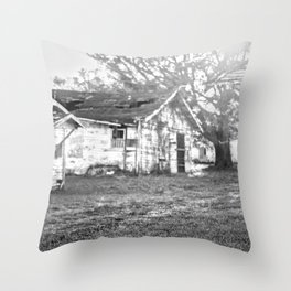 Sunset on the Fish Shack Throw Pillow