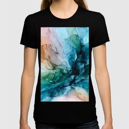 Salty Shores Abstract Painting T-shirt