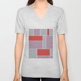 Abstract #823 Unisex V-Neck