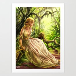 Yseulta in the Forest Art Print