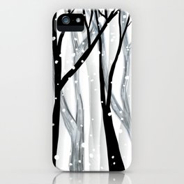 Winter Snowfall iPhone Case