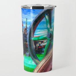 Clayton and Shuttleworth Traction Engine Art Travel Mug