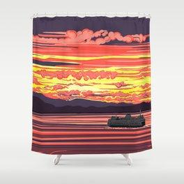 Ferry Ride Shower Curtain