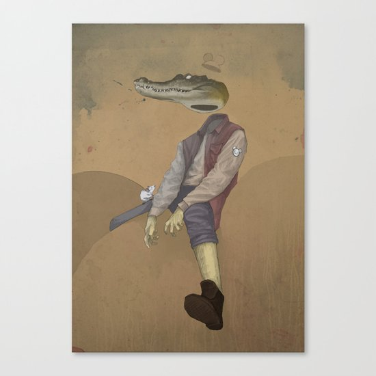 mr.croc Canvas Print