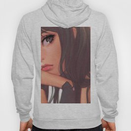 Super Pretty Hentai Girl Model With Sad Expression Ultra HD Hoody