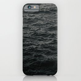 GRAYSCALE PHOTO OF BODY OF WATER iPhone Case
