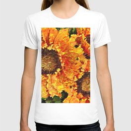 Sunflowers Abstracted T-shirt