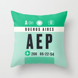 Luggage Tag A - AEP Buenos Aires Argentina Throw Pillow