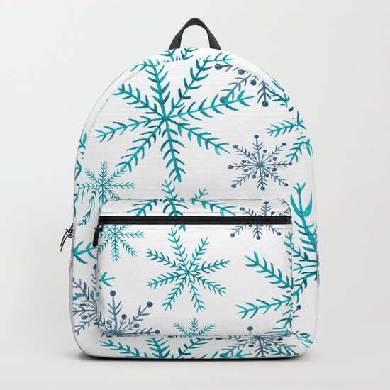 Blue Snowflakes Backpack